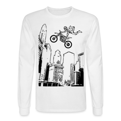 Dirt Biking City-Scraper - Men's Long Sleeve T-Shirt