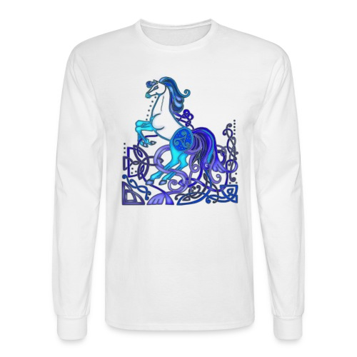 Celtic Horse Silver Blue - Men's Long Sleeve T-Shirt