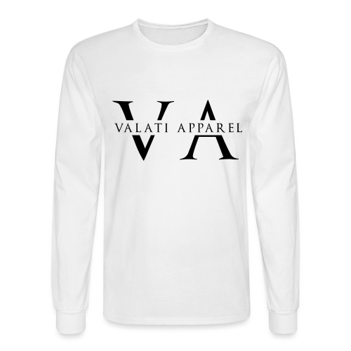 VA Strikethrough - Men's Long Sleeve T-Shirt