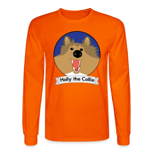 Holly the Collie blue - Men's Long Sleeve T-Shirt