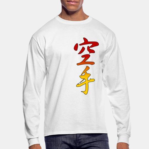 Karate Kanji Red Yellow Gradient - Men's Long Sleeve T-Shirt