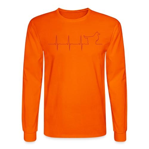 Heart Collie - Men's Long Sleeve T-Shirt