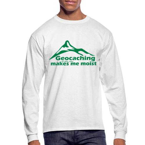 Geocaching in the Rain - Men's Long Sleeve T-Shirt