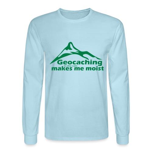 Geocaching in the Rain - Men's Long Sleeve T-Shirt