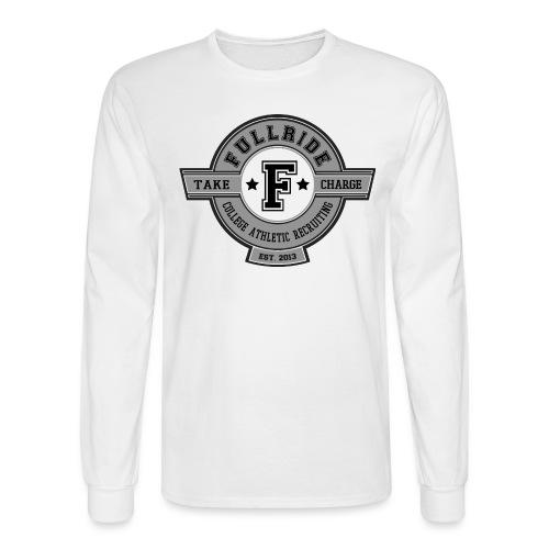 fullride grayscale transparent png - Men's Long Sleeve T-Shirt