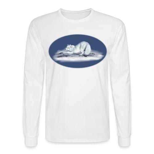 Arctic Fox on snow - Men's Long Sleeve T-Shirt