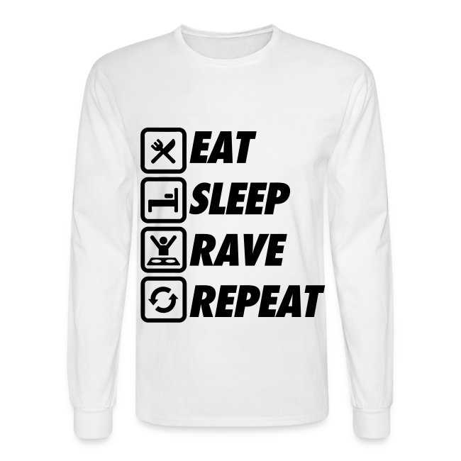 Eat Sleep Rave Repeat T-Shirt Homme