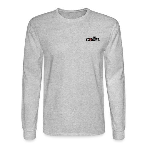 Collin. (Black w/ Rose) - Men's Long Sleeve T-Shirt
