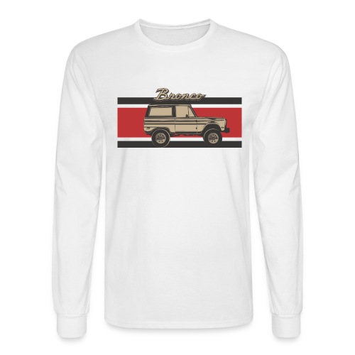 Bronco Truck Billet Design Men's T-Shirt - Men's Long Sleeve T-Shirt