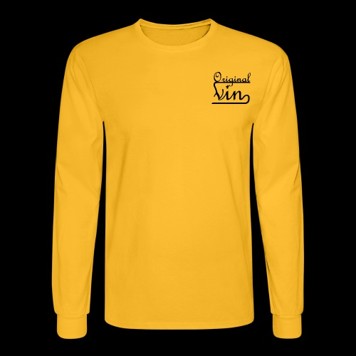 Vin Orignal Black png - Men's Long Sleeve T-Shirt