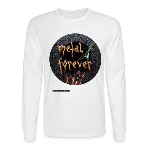 MetalForever by GuitarLoversCustomTees png - Men's Long Sleeve T-Shirt