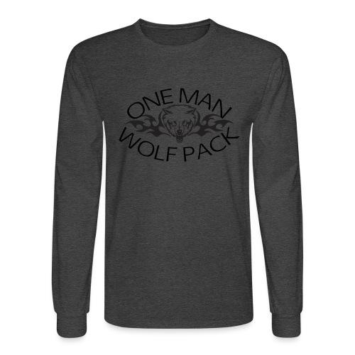 One Man Wolf Pack - Design - Men's Long Sleeve T-Shirt