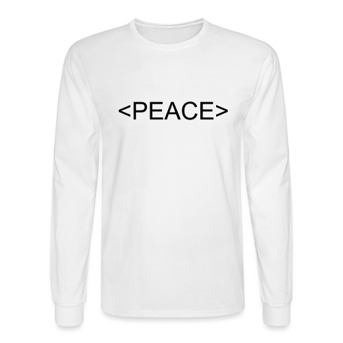 HTML Start Peace - Men's Long Sleeve T-Shirt