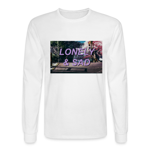Purple/Black Street - Men's Long Sleeve T-Shirt