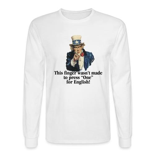 Uncle Sam - Finger - Men's Long Sleeve T-Shirt