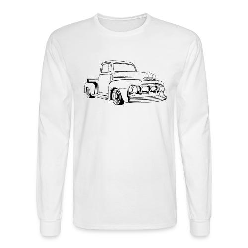 1951 F100 Classic Pickup Truck Men's T-Shirt - Men's Long Sleeve T-Shirt