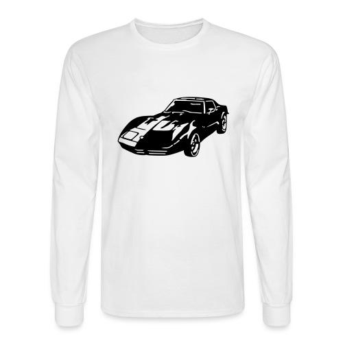 auto_80s_chevrolet_corvette_1c - Men's Long Sleeve T-Shirt
