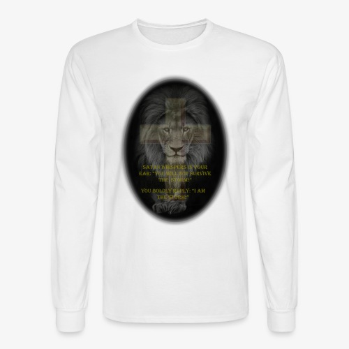 LION SURVIVE THE STORM - Men's Long Sleeve T-Shirt