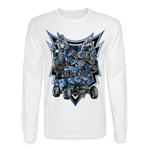Extreme Life Style Blue - Men's Long Sleeve T-Shirt