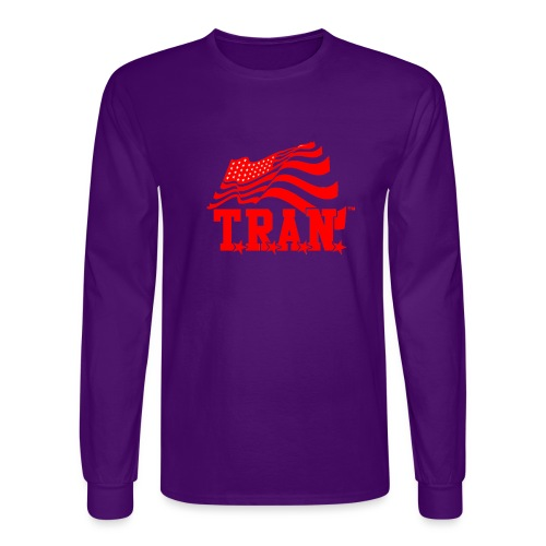 New Tran Logo Transparent RED png - Men's Long Sleeve T-Shirt