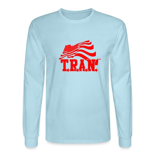 New Tran Logo Transparent RED png - Men's Long Sleeve T-Shirt