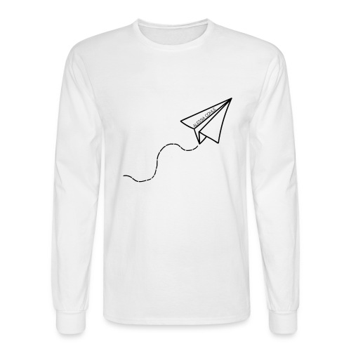 Travel - Paper Plane (black) - Men's Long Sleeve T-Shirt
