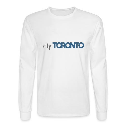 cityTorontoLogoNEW.png - Men's Long Sleeve T-Shirt