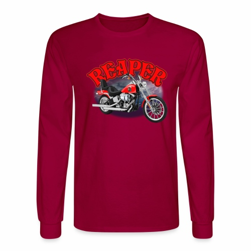 Motorcycle Reaper - Men's Long Sleeve T-Shirt