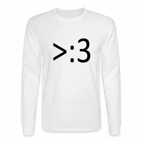 >:3 - Men's Long Sleeve T-Shirt