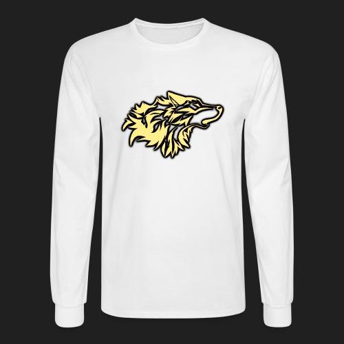 wolfepacklogobeige png - Men's Long Sleeve T-Shirt