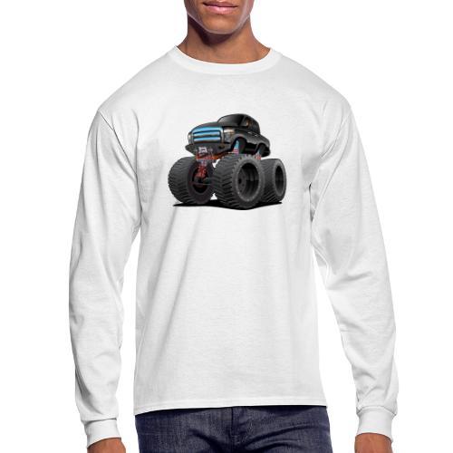 Monster Pickup Truck Cartoon - Men's Long Sleeve T-Shirt
