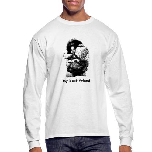 My best friend (girl) - Men's Long Sleeve T-Shirt