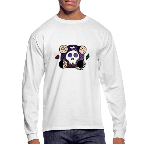 Moon Skull from Outer Space - Men's Long Sleeve T-Shirt