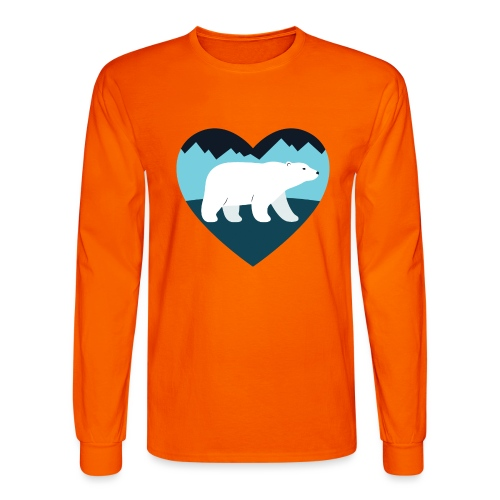 Polar Bear Love - Men's Long Sleeve T-Shirt