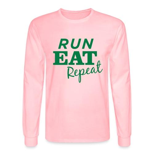 Run Eat Repeat buttons medium - Men's Long Sleeve T-Shirt