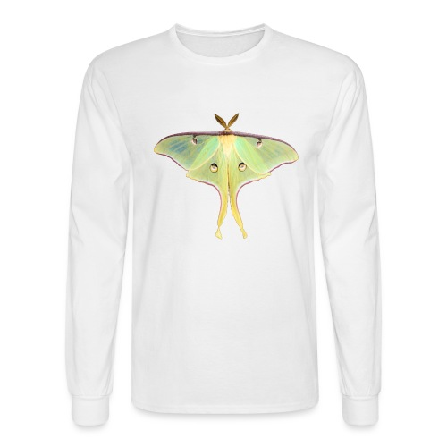 GREEN LUNA MOTH - Men's Long Sleeve T-Shirt