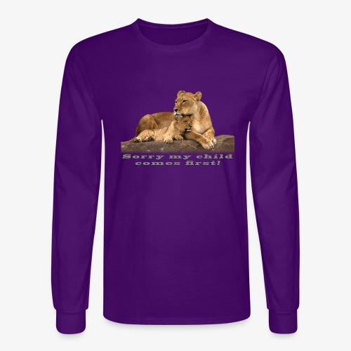 Lion-My child comes first - Men's Long Sleeve T-Shirt