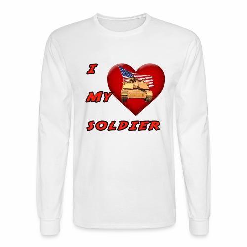 I Heart my Soldier - Men's Long Sleeve T-Shirt