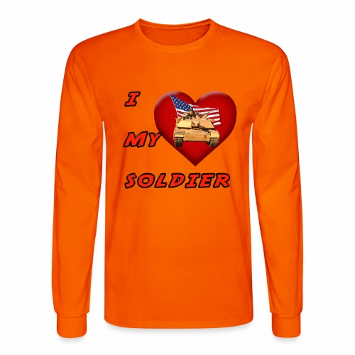 I Heart my Soldier - Men's Long Sleeve T-Shirt