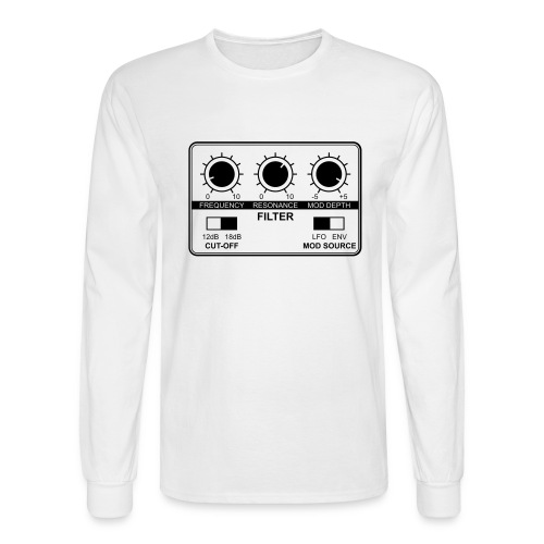 Synth Filter with Knobs - Men's Long Sleeve T-Shirt