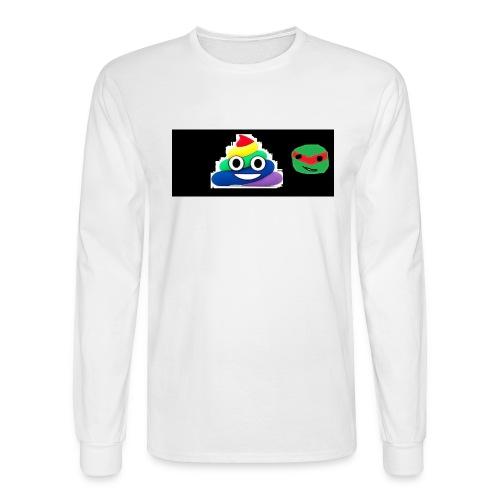 ninja poop - Men's Long Sleeve T-Shirt
