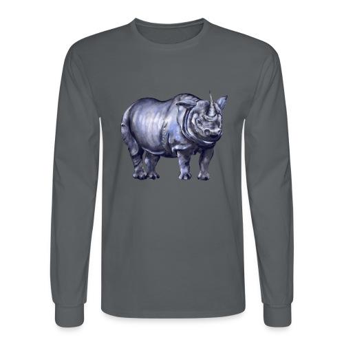 One horned rhino - Men's Long Sleeve T-Shirt
