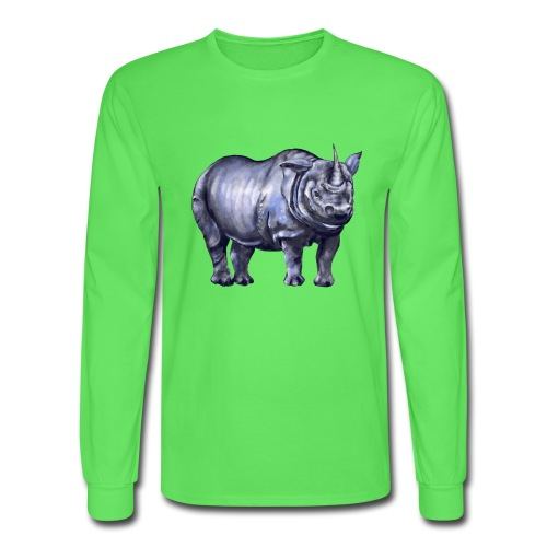 One horned rhino - Men's Long Sleeve T-Shirt