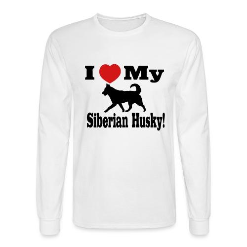 I Love my Siberian Husky - Men's Long Sleeve T-Shirt