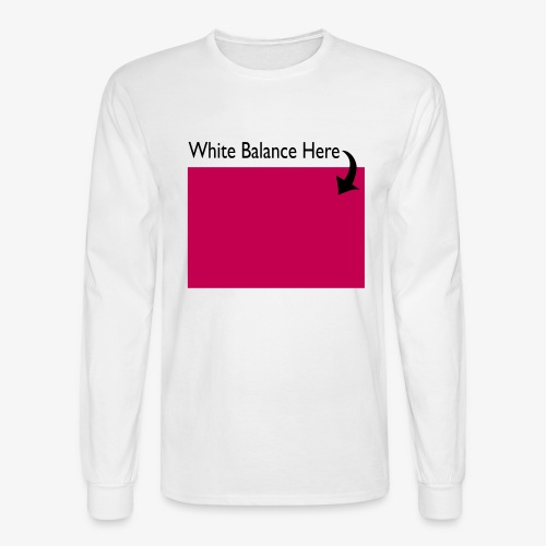 White Balance - Men's Long Sleeve T-Shirt