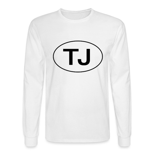 Jeep TJ Wrangler Oval - Men's Long Sleeve T-Shirt