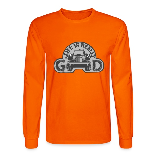 Life Is Really Good Jeep - Men's Long Sleeve T-Shirt