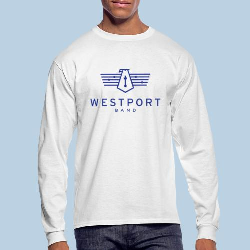 Westport Band Blue on transparent - Men's Long Sleeve T-Shirt