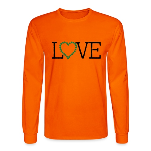 LOVE irish shamrocks - Men's Long Sleeve T-Shirt