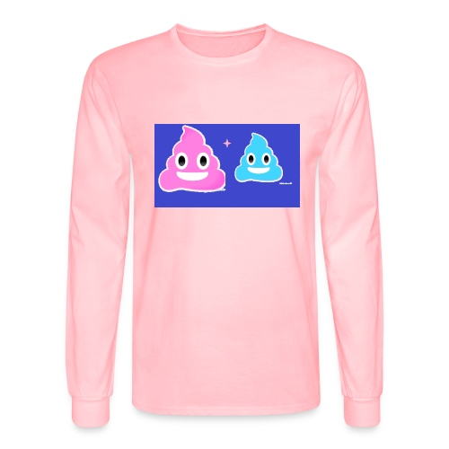 blue and pink poop - Men's Long Sleeve T-Shirt